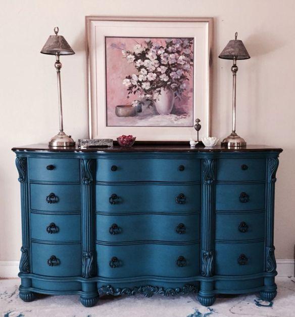 Solid blue sideboard:dresser